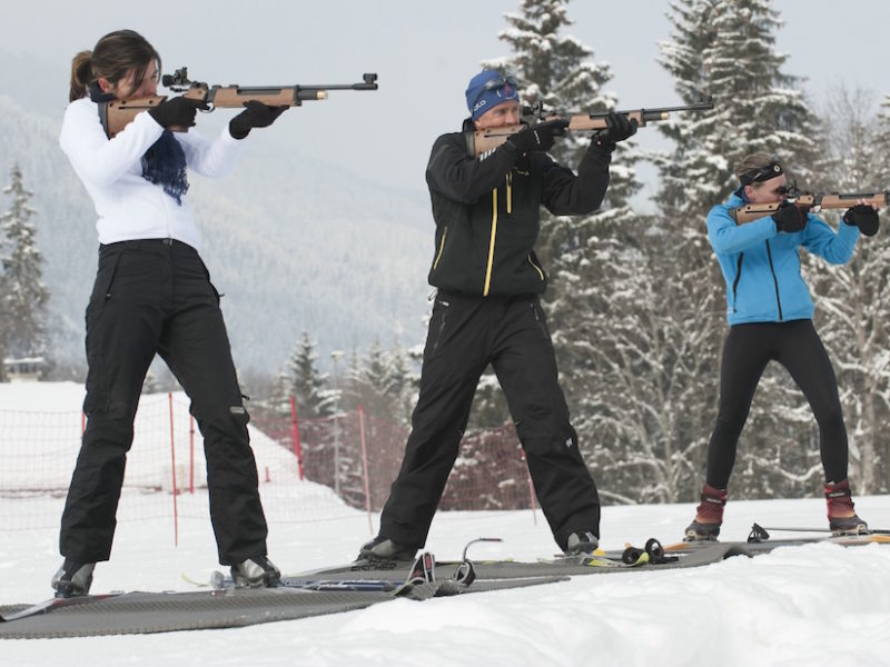 Biathlon aux Contamines-Montjoie